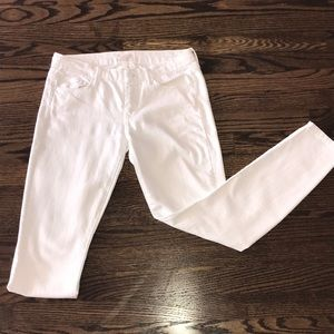 "MOTHER- Women's ""The Looker"" Skinny White Jeans"